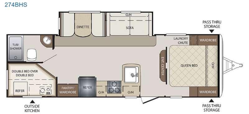 Bullet 274BHS Floorplan Image