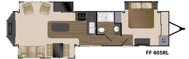 Floorplan - 2017 Heartland Fairfield 405RL