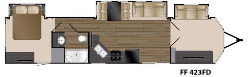 Floorplan - 2017 Heartland Fairfield 423FD