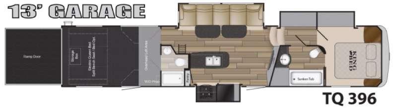 Floorplan - 2017 Heartland Torque TQ 396