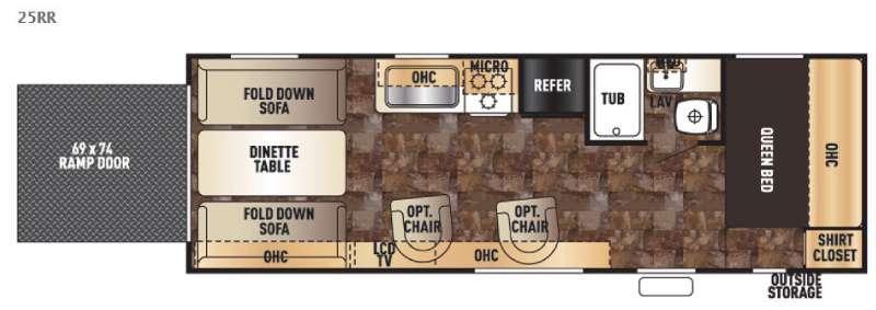 Cherokee Grey Wolf 25RR Floorplan Image