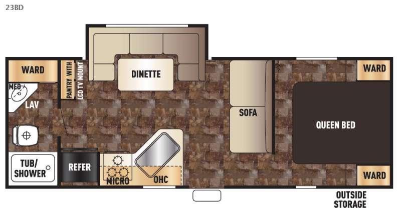 Cherokee Grey Wolf 23BD Floorplan Image