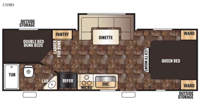 Cherokee Grey Wolf 23DBH Floorplan