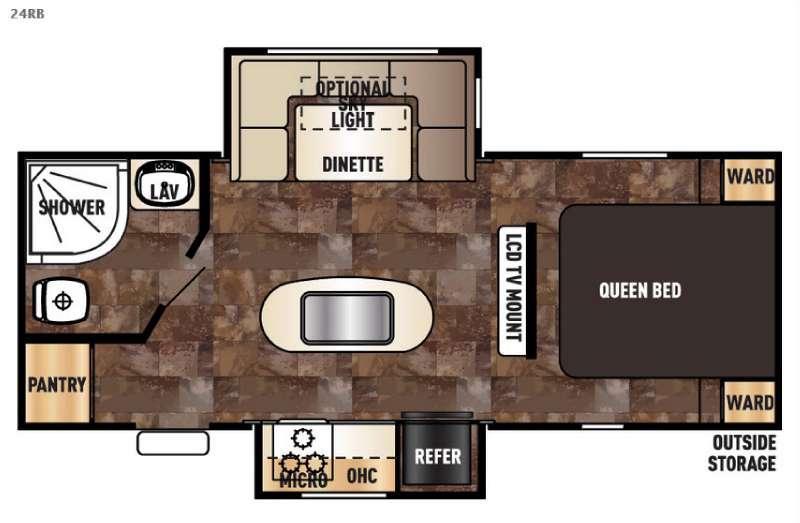 Cherokee Grey Wolf 24RB Floorplan Image