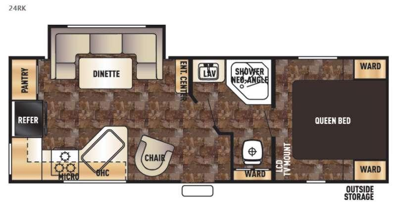 Floorplan - 2017 Forest River RV Cherokee Grey Wolf 24RK