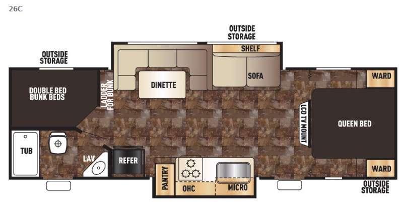 Cherokee Grey Wolf 26C Floorplan Image