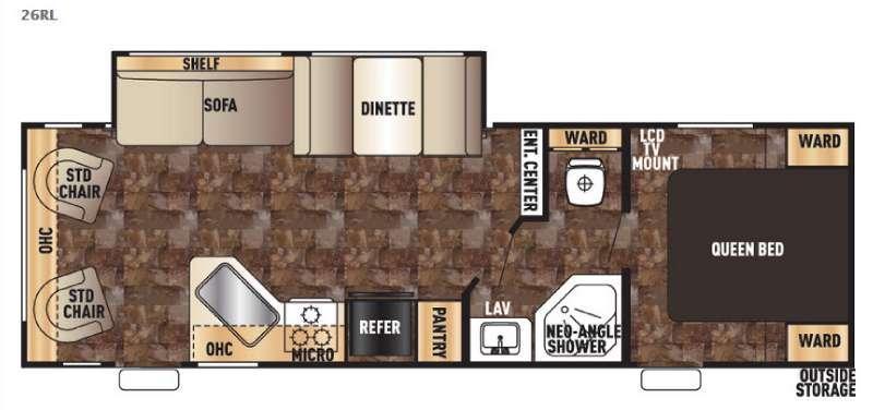 Cherokee Grey Wolf 26RL Floorplan Image