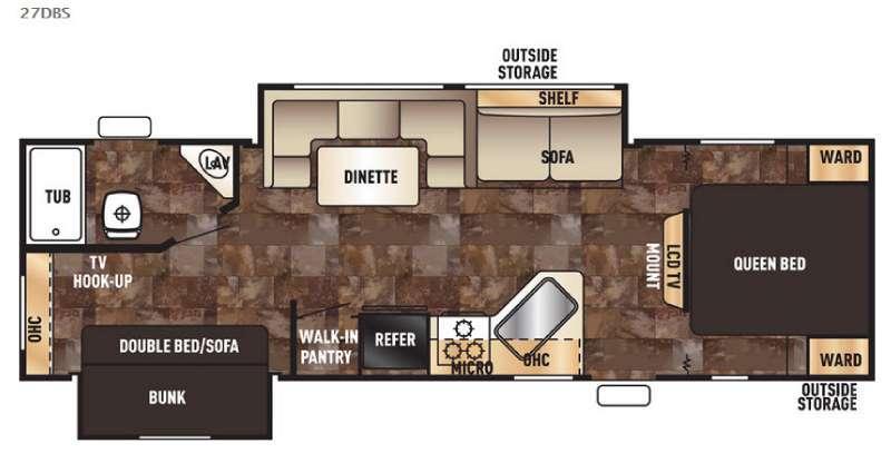 Cherokee Grey Wolf 27DBS Floorplan
