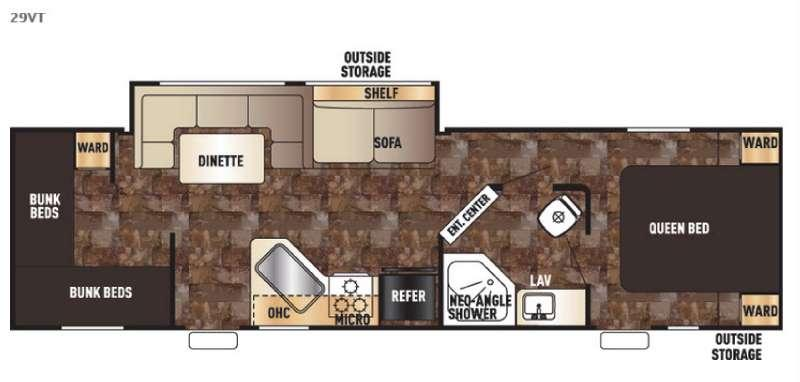 Floorplan - 2017 Forest River RV Cherokee Grey Wolf 29VT