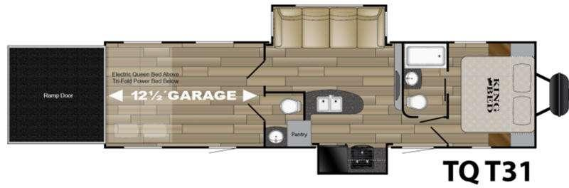Floorplan - 2017 Heartland Torque XLT TQ T31