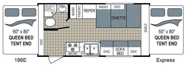 Kodiak Express 186E Floorplan Image