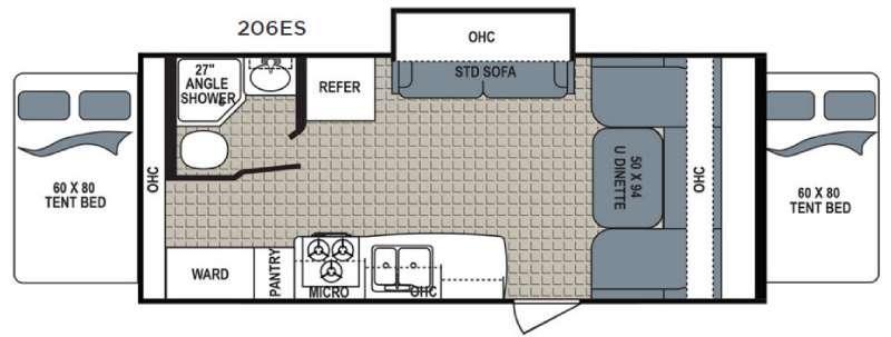 Kodiak Express 206ES Floorplan Image