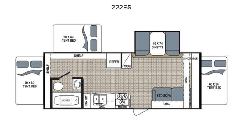 Kodiak Express 222ES Floorplan Image