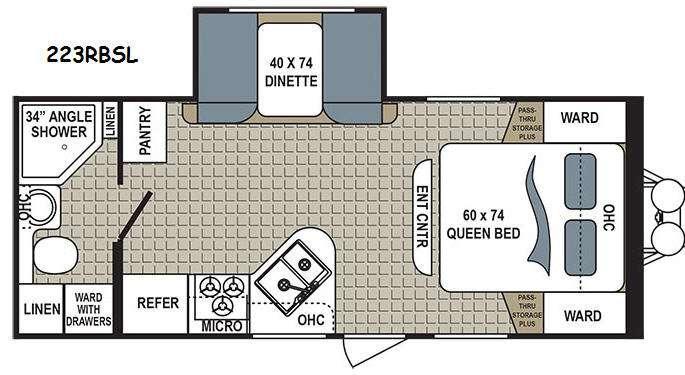 Kodiak Express 223RBSL Floorplan Image