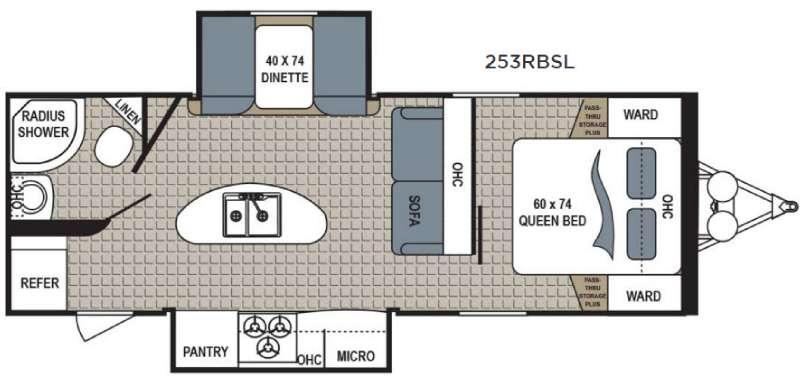Floorplan - 2017 Dutchmen RV Kodiak Express 253RBSL