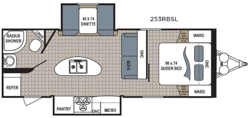 Kodiak Express 253RBSL Floorplan Image
