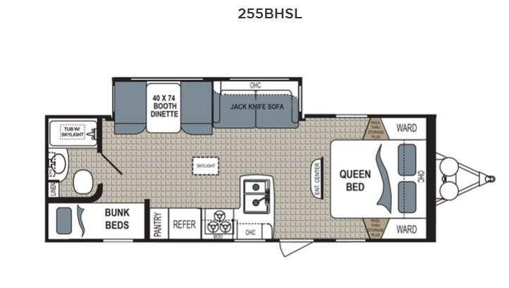Floorplan - 2017 Dutchmen RV Kodiak Express 255BHSL