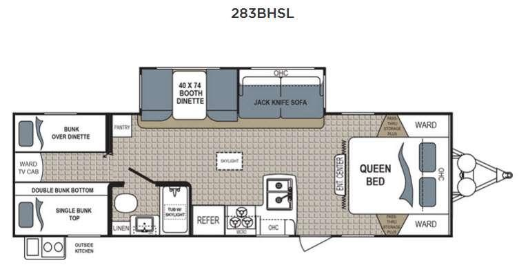 Floorplan - 2017 Dutchmen RV Kodiak Express 283BHSL