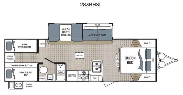 Kodiak Express 283BHSL Floorplan Image
