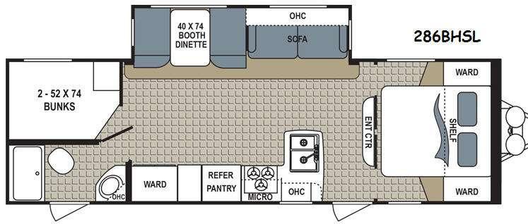 Kodiak Express 286BHSL Floorplan Image