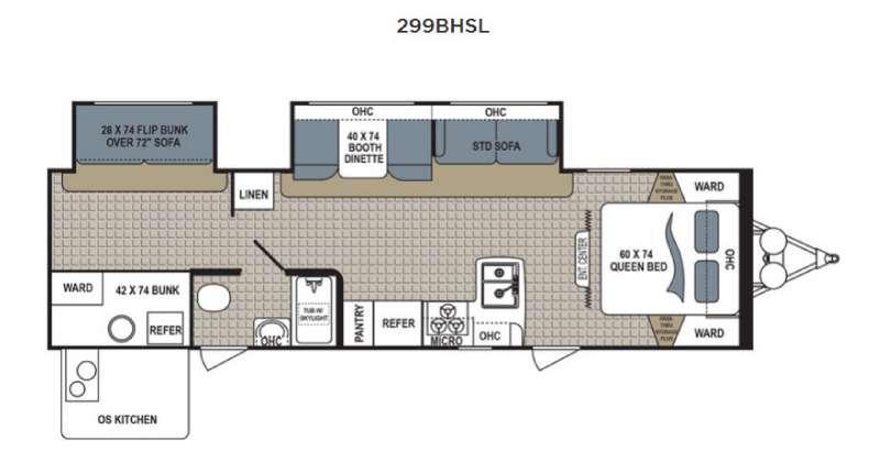 Kodiak Express 299BHSL Floorplan Image