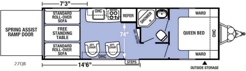 Floorplan - 2017 Forest River RV XLR Boost 27QB