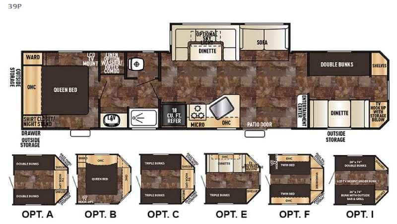 Cherokee Destination Trailers 39P Floorplan Image