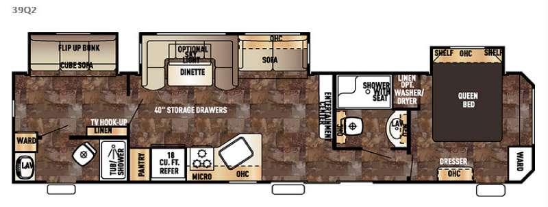 Cherokee Destination Trailers 39Q2 Floorplan Image