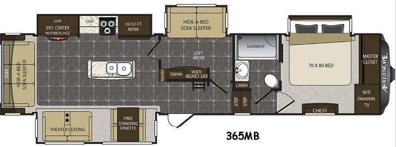 Avalanche 365MB Floorplan Image