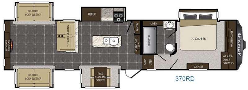 Avalanche 370RD Floorplan Image