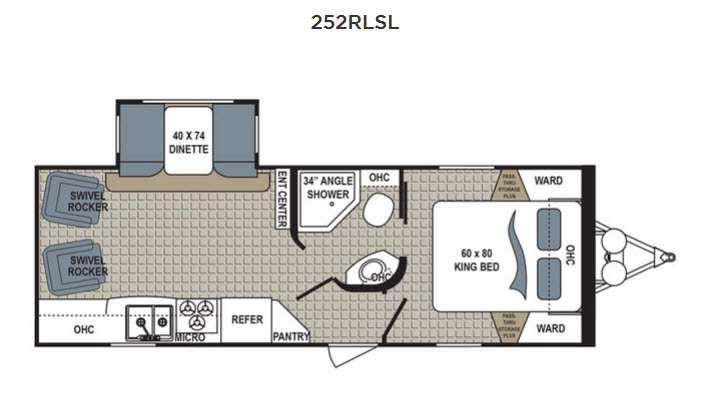Kodiak Ultimate 252RLSL Floorplan Image