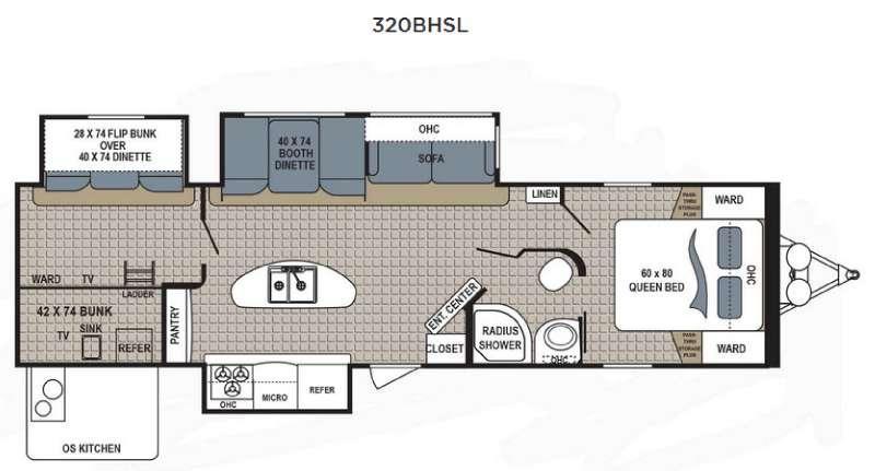 Kodiak Ultimate 320BHSL Floorplan Image