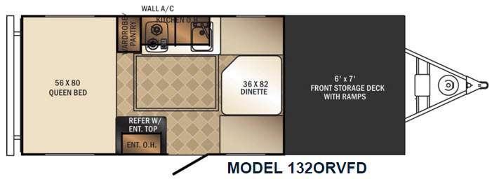 PaloMini 132FD ORV Floorplan Image