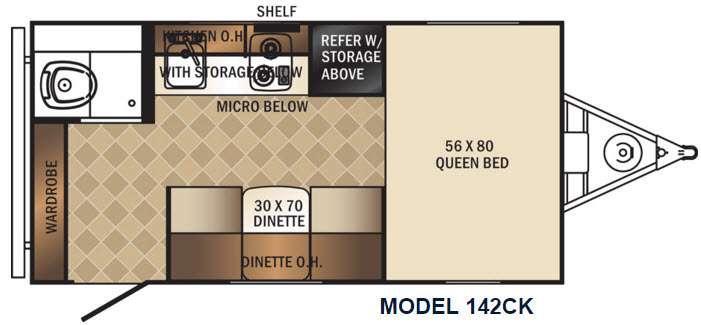 PaloMini 142CK Floorplan Image