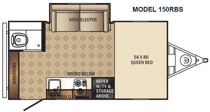 PaloMini 150RBS Floorplan Image