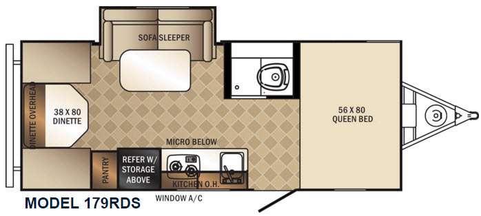 PaloMini 179RDS Floorplan Image