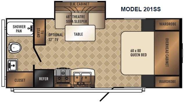 SolAire Ultra Lite 201SS Floorplan Image