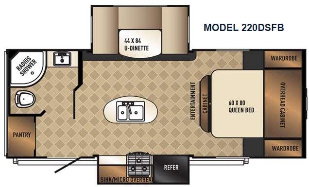 SolAire Ultra Lite 220DSFB Floorplan Image