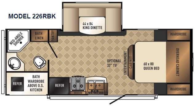 SolAire Ultra Lite 226RBK Floorplan Image