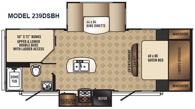 SolAire Ultra Lite 239DSBH Floorplan Image