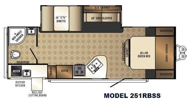 SolAire Ultra Lite 251RBSS Floorplan Image