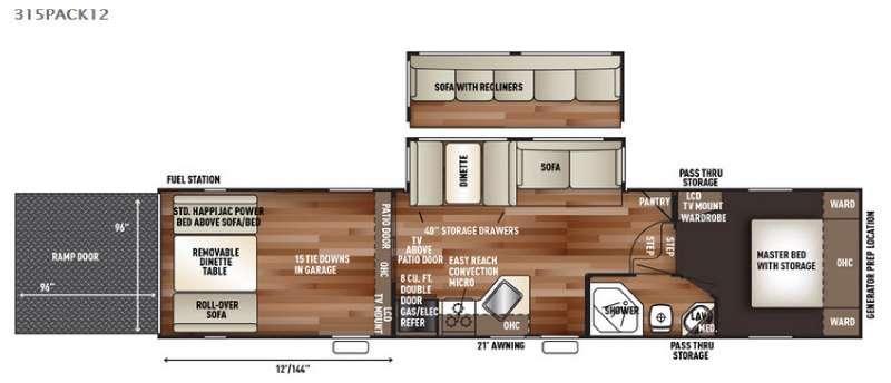 Cherokee Wolf Pack 315PACK12 Floorplan