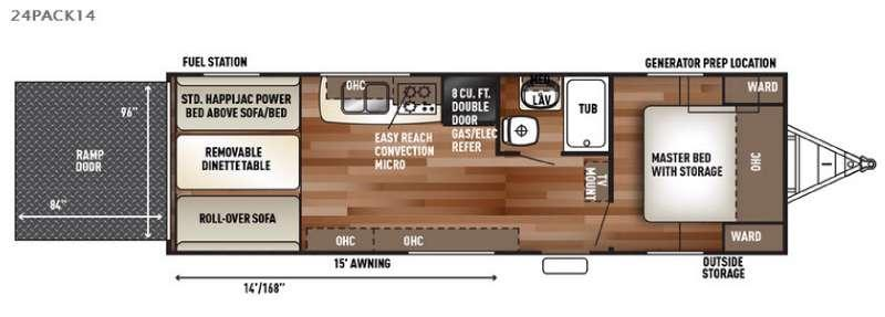 Floorplan - 2017 Forest River RV Cherokee Wolf Pack 24PACK14