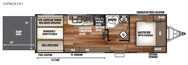 Floorplan - 2017 Forest River RV Cherokee Wolf Pack 24PACK14plus