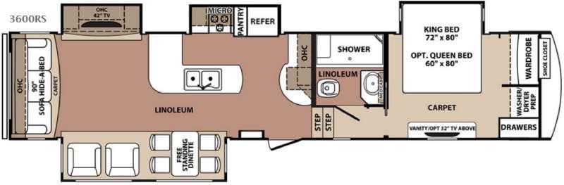 Blue Ridge 3600RS Floorplan Image