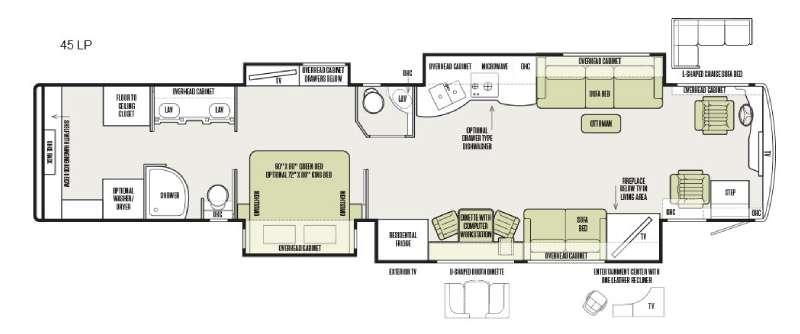 Allegro Bus 45 LP Floorplan Image