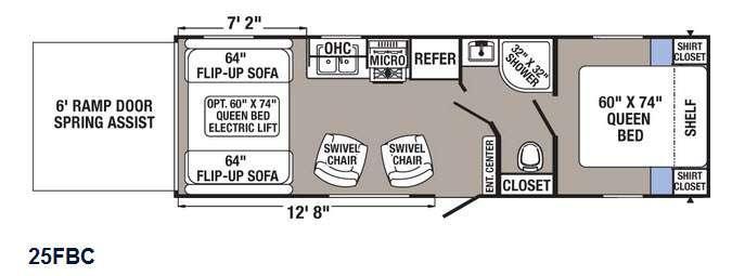 Puma XLE 25FBC Floorplan Image