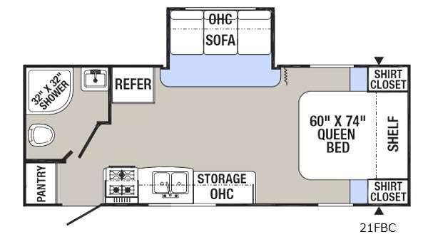 Puma XLE 21FBC Floorplan Image