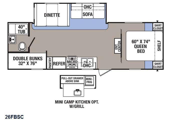 Puma XLE 26FBSC Floorplan Image