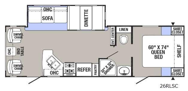 Puma XLE 26RLSC Floorplan Image
